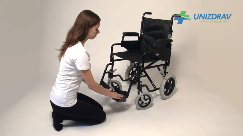 Unizdrav - Invalidny vozik transit chair na prevoz osôb