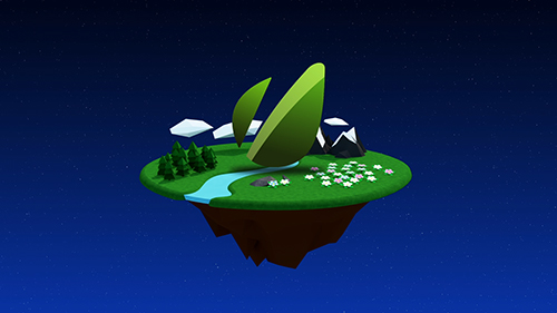 Forest planet logo animation