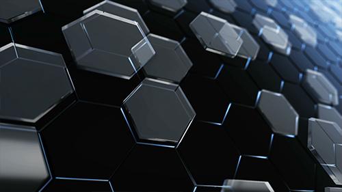 Glass plane hexagons